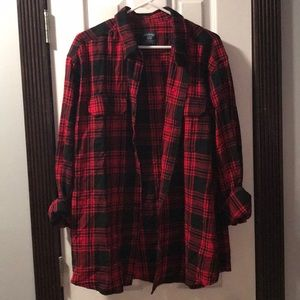 Faded Glory Tops - Flannel button down shirt